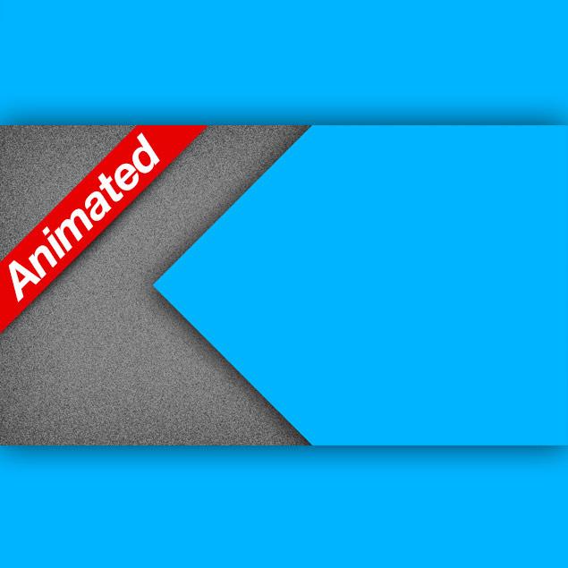 Video Transition Left Blue