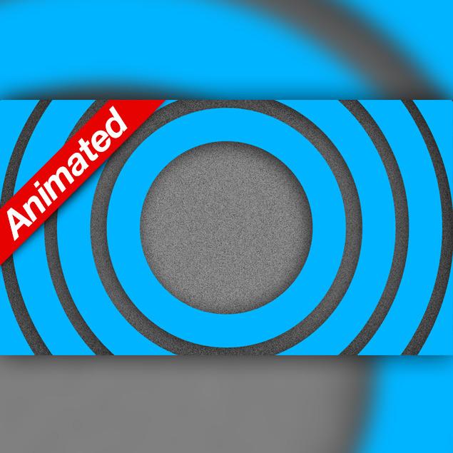 Video Transition Blue Circles