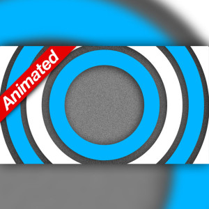 Video Transition Blue and White Circles
