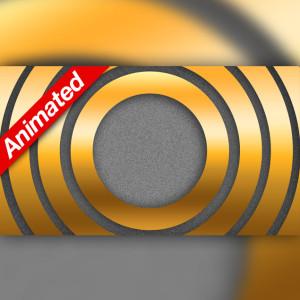 Video Transition Gold Metal Circles