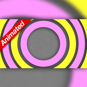 Video Transition Pink and Yellow Circles