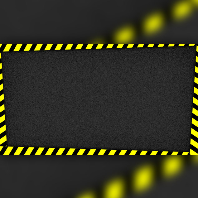 Caution tape thumbnail graphic
