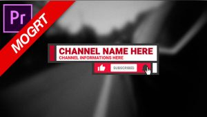 channel name and subscribe overlay